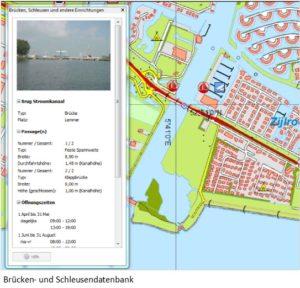 Screenshot Brücken und Schleusendatenbank WinGPS