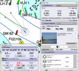 Screenshot Navigationsfenster WinGPS