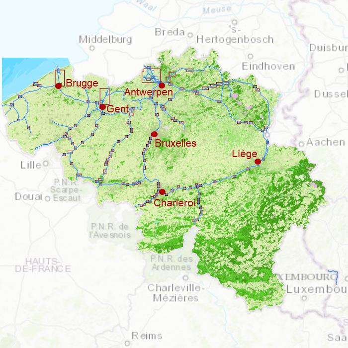 Karte Von Holland Und Belgien.Karte Belgien Dkw Wingps Bootsnavigation